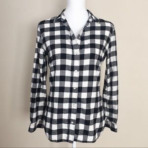 H&M black & white checkered shirt